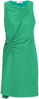 A.L.C. Gathered Linen-blend Mini Dress