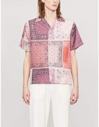 Amiri Paisley-pattern relaxed-fit silk-satin shirt