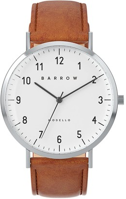 Barrow Petite Watch With Steel Mesh Strap & Tan Leather Strap