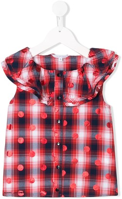 The Marc Jacobs Kids Frill Trimmed Sleeveless Blouse