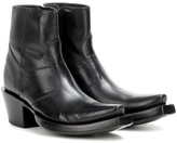 Vetements X Lucchese Bootmaker Leather Ankle Boots