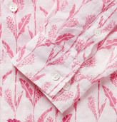Mustique Pink House Printed Linen Shirt
