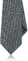 Kiton Men's Houndstooth Wool-Silk Necktie-LIGHT BLUE, BLACK