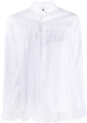 Comme des Garcons Sheer Overlay Shirt