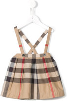 Burberry dungaree skirt - kids - Cotton - 6 mth