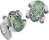 Jan Leslie Crystal-Embellished Frog Cuff Links