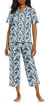 Cabernet Floral Sateen Pajamas