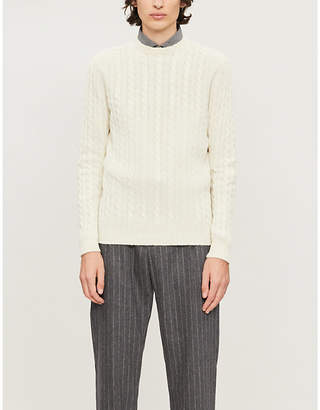Eleventy Cable-knit cashmere jumper