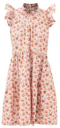 Sea Leslie Ruffled Floral-print Cotton Dress - Pink
