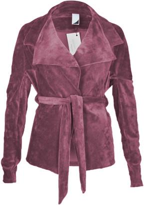 Format BIND rust melange velours cardigan - S - Pink