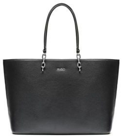 HUGO BOSS Grainy-leather shopper bag with chain-detail handles