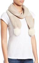 UGG Shearling Pompom Knit Scarf