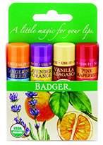 Badger Lip Balm 4 Sticks Gift Set Green Pack