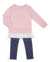 Little Lass 2-pc. Bow Long-Sleeve Top and Pants Set - Preschool Girls 4-6x