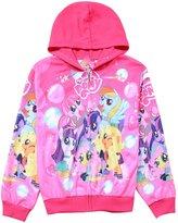 LEMONBABY little girls my little pony cute fleece outerwear jacket hoodies (M, )