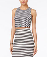Roxy Juniors' Plans I Was Chasing Striped Crisscross Crop Top