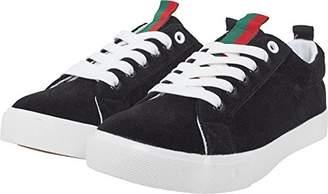 Urban Classics Unisex Adults' Velour Sneaker Trainers, Multicolour (Blk/Stripes 01376)