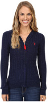 U.S. Polo Assn. Donegal Cable Hoodie Sweater