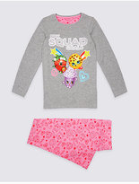 Marks and Spencer Cotton Rich Shopkins Pyjamas (4-10 Years)