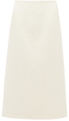 Brock Collection Pietrasole Wool-blend Midi Skirt - Cream