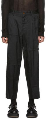 Comme des Garcons Black Dobby Trousers