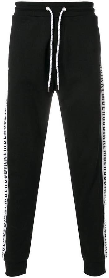 Dirk Bikkembergs logo drawstring trousers