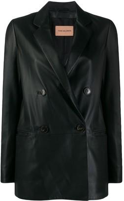 Yves Salomon double-breasted leather jacket