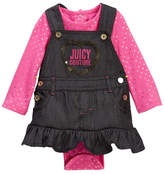 Juicy Couture Foil Dot Bodysuit & Denim Jumper Set (Baby Girls 0-9M)