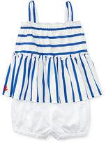 Ralph Lauren Striped Cotton Top & Bloomer