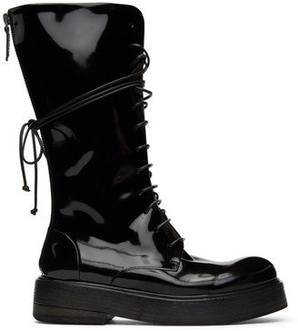 Marsèll Black Patent Zuccolona Tall Boots