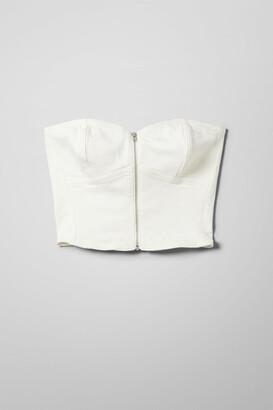 Weekday Deltic Denim Top White - White