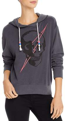 Chrldr Lightning Skull Hooded Sweatshirt