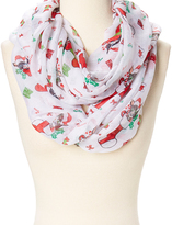 David & Young White & Red Cat Infinity Scarf