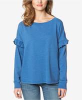 Buffalo David Bitton Ruffle-Sleeve Sweatshirt
