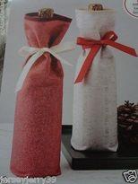 Martha Stewart Holidays, Christmas Wine, Beverage Gift Bags