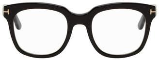 Tom Ford Black Blue Block Thick Square Glasses