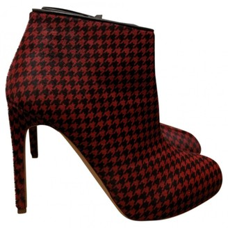 Rupert Sanderson Red Pony-style calfskin Ankle boots