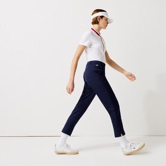 Lacoste Women's SPORT Golf Pleated Tech Gabardine Pants