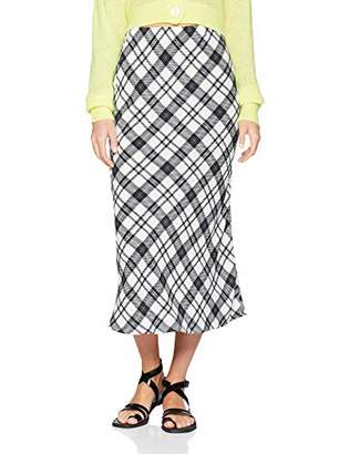 New Look Women's Atty Check Bias Skirt,(Manufacturer Size:)
