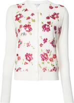 Oscar de la Renta embroidered flowers cardigan - women - Virgin Wool/Silk - S