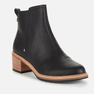 Toms Women's Marina Leather Heeled Ankle Boots