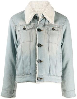 Victoria Victoria Beckham Shearling-Lined Denim Jacket