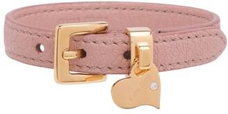 Miu Miu Madras leather bracelet