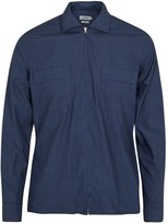 J.lindeberg Daniel Navy Cotton Overshirt