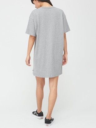 Vans Centre V T-Shirt Dress - Grey