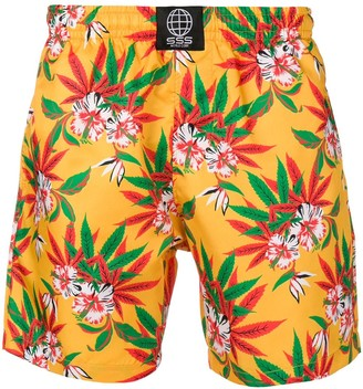 SSS World Corp Floral Print Swimming Trunks
