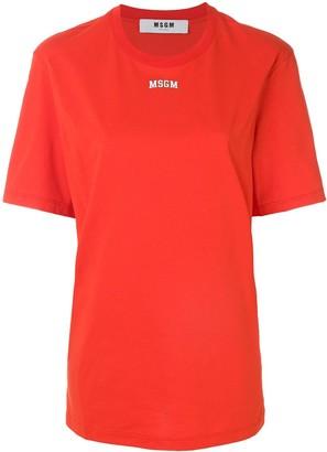 MSGM oversized logo T-shirt