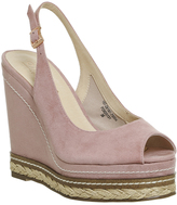 Office Haute Peep Toe Espadrille Wedges