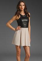 Silk Dress with Leather Bodice Dress