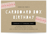 Minted Cardboard Box Children's Birthday Party Invitations